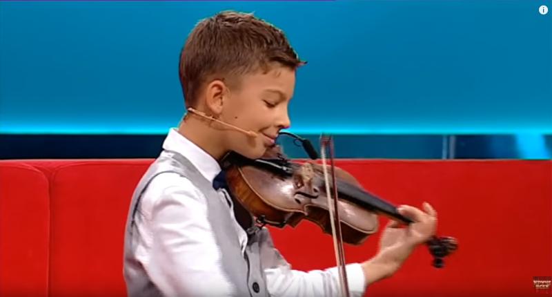 10-летний скрипач-виртуоз из Запорожья стал участником популярного телешоу