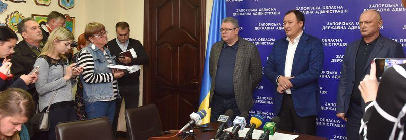 Константин Брыль на встрече с журналистами