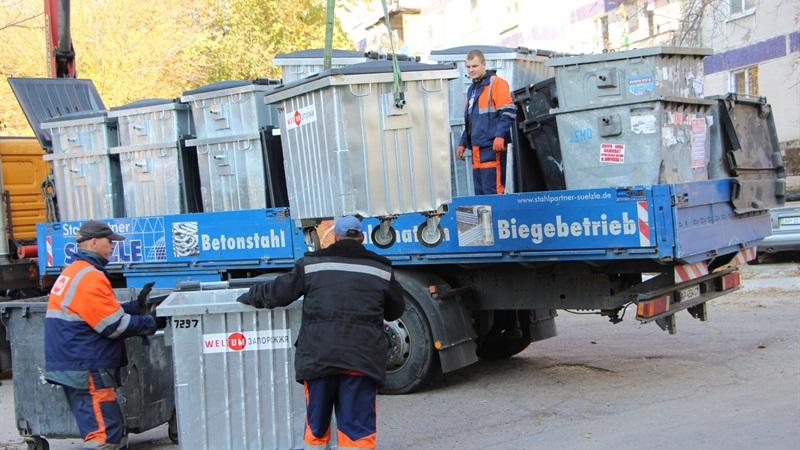 В Александровском районе установили порядка 400 новых контейнеров для мусора