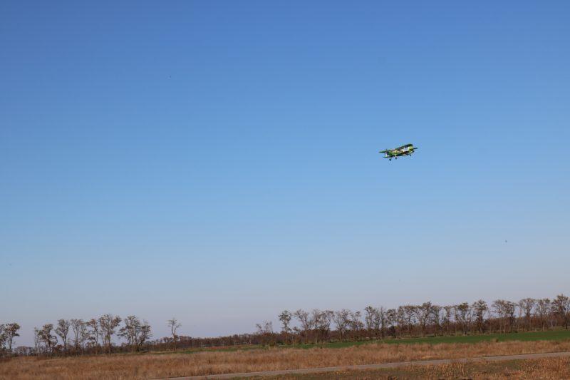 с самолетов прививали животных