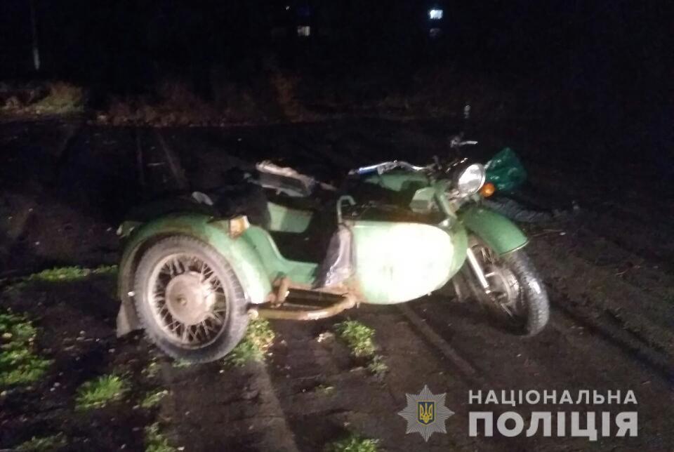 В Запорожской области пьяный мотоциклист спровоцировал смертельное ДТП