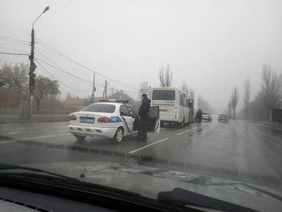 В Запорожской области рейсовый автобус попал в ДТП, - ФОТО