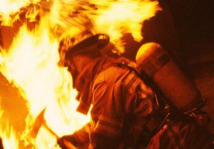 В Запорожье загорелся дом с дымоходом