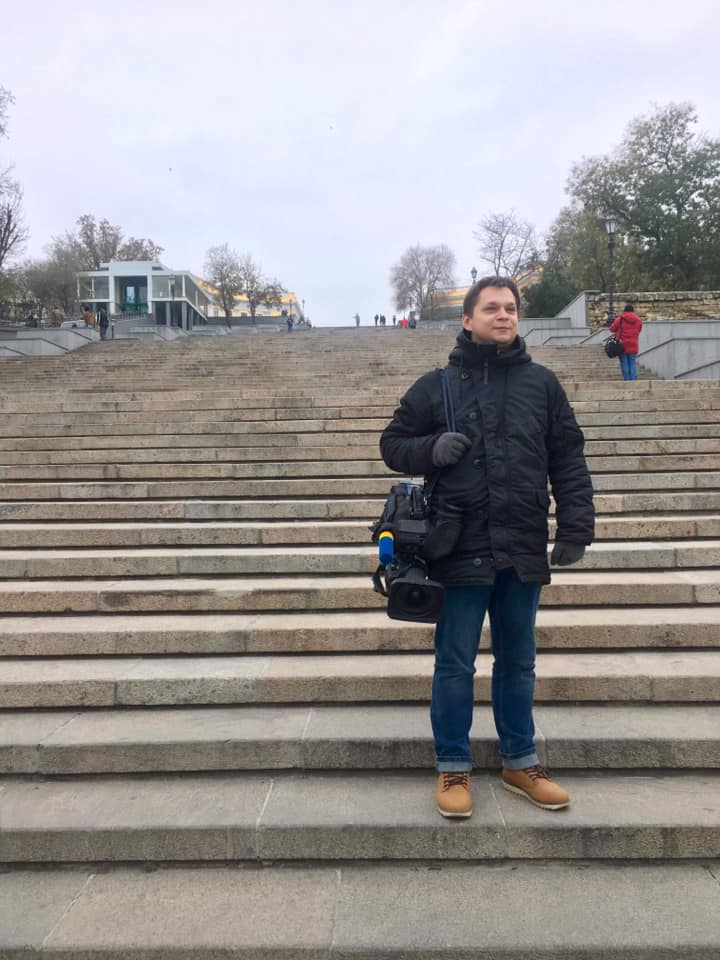 Юрий Всаильченко в Одессе на Потемкинской лестнице