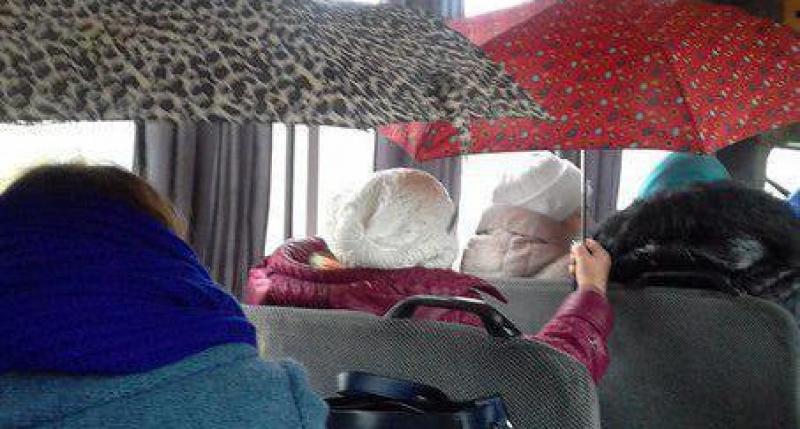 В Запорожье пассажиры троллейбуса запечатлели в салоне прогнивший потолок (Фото)