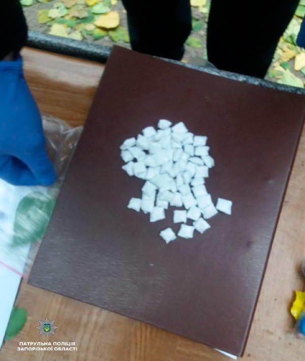 В Запорожье патрульные задержали двух парней с сотней наркотических