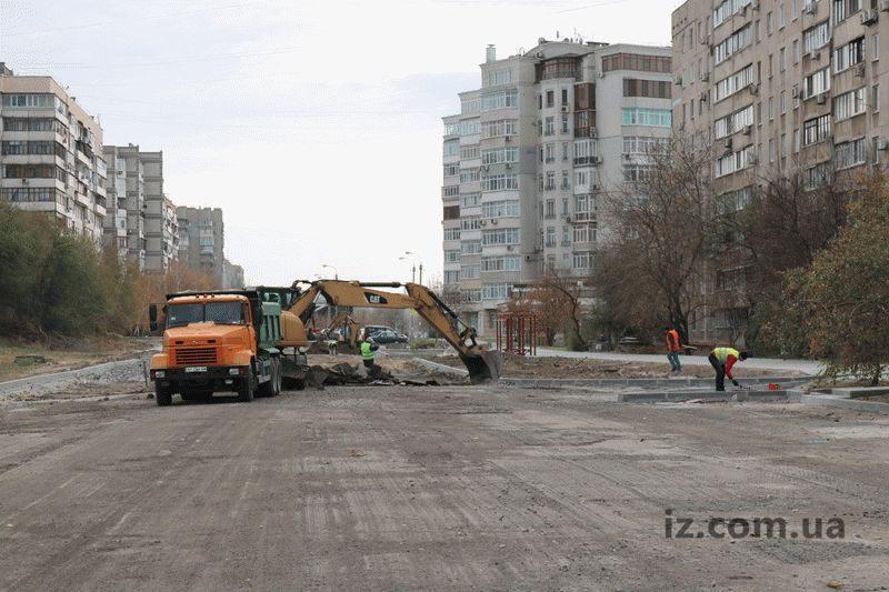 В Александровском районе Запорожья строят новую дорогу