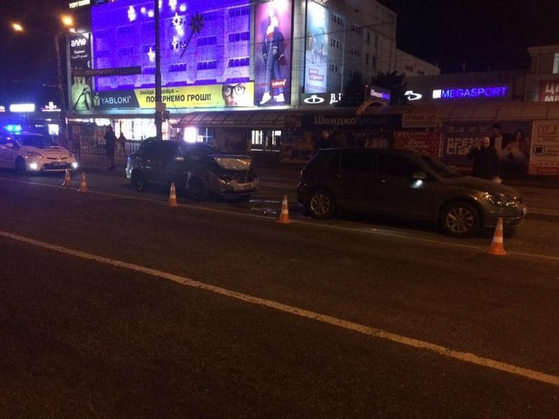В центре Запорожья произошла тройная авария