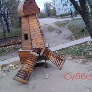 Вандалы разгромили любимую мельницу горожан (ФОТО) - 12.11.2018, 17:50