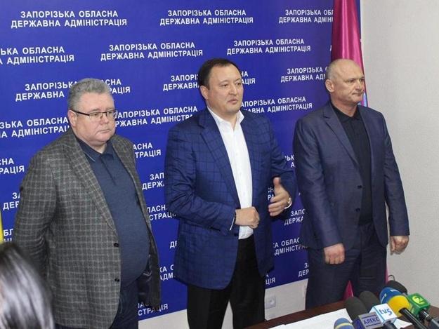 Губернатор Запорожской области Константин Брыль провел пресс-клнференцию в связ с введением военного положения