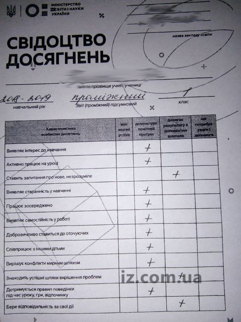 Запорожские первоклассники получили первые свидетельства достижений