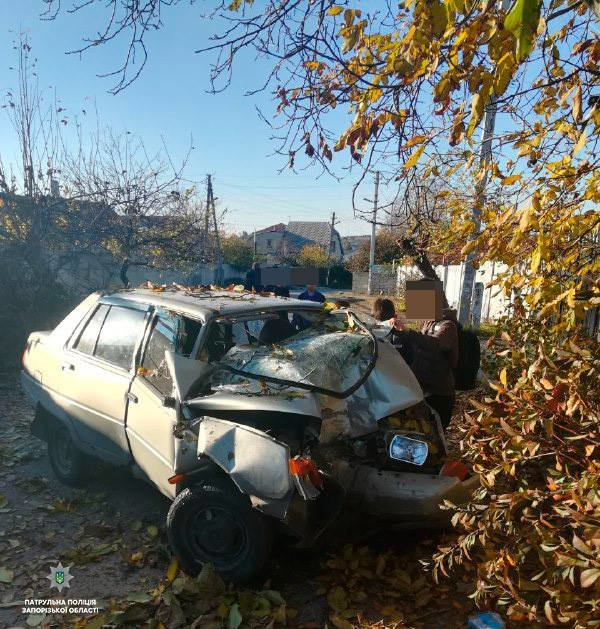 Запорожский водитель в ДТП разбил свою «Славуту»: ему стало плохо, – ФОТО