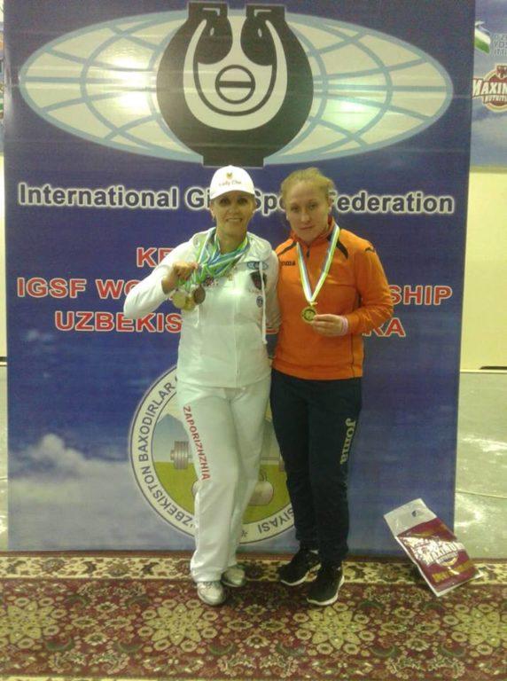 Запорожская гиревичка Любовь Черепаха стала пятнадцатикратной чемпионкой мира
