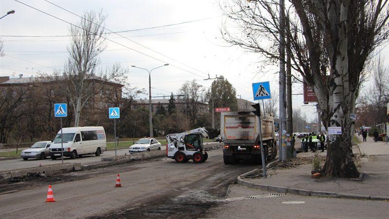ремонт дороги на улице Победы