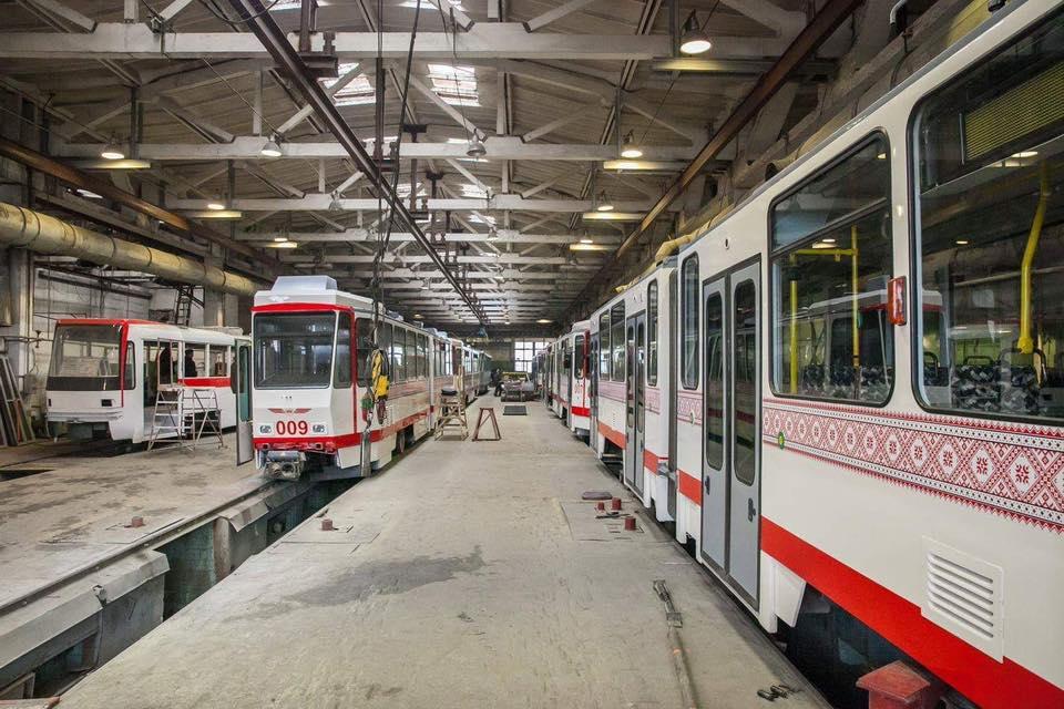 КП «Запорожэлектротранс» получило еще четыре кузова для программы «Запорожский трамвай»
