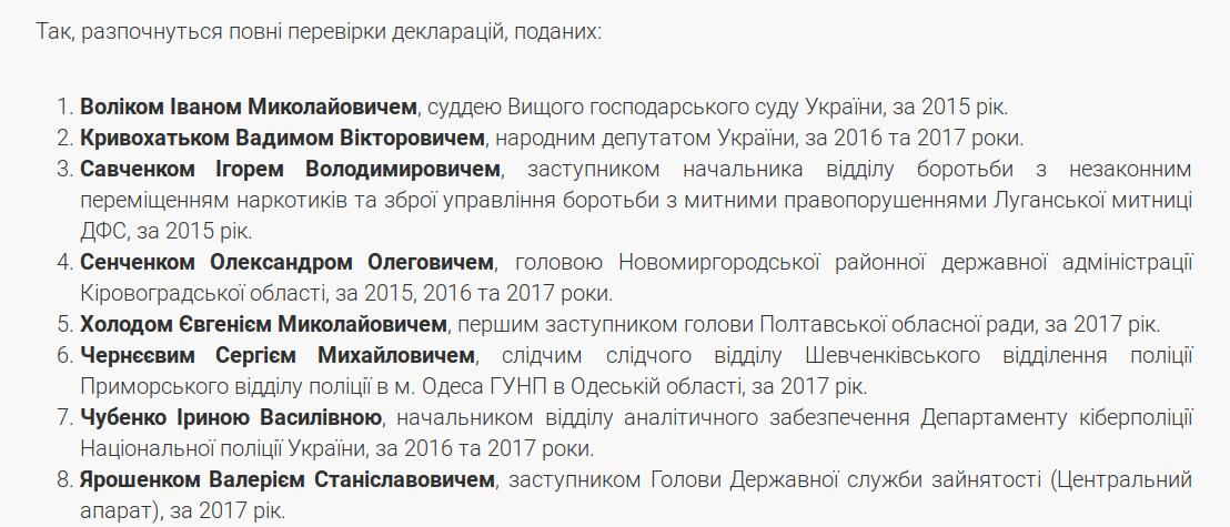 НАПК хочет проверить декларацию нардепа Кривохатько