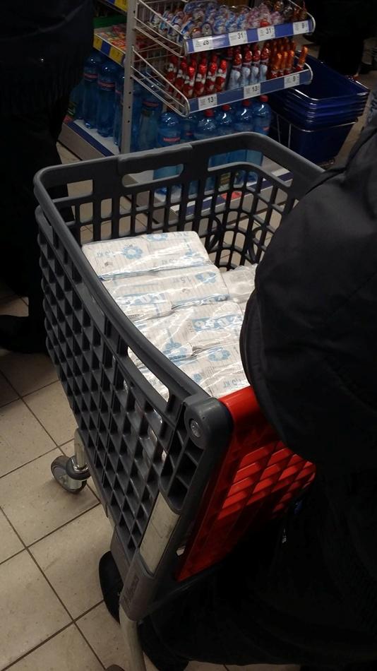 Люди якобы скупают соль. фото: fb Роман Горинин