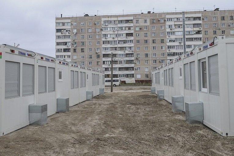 Работу модульного городка для переселенцев в Запорожье продлили еще на год