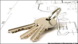 keys on an architecture-plan