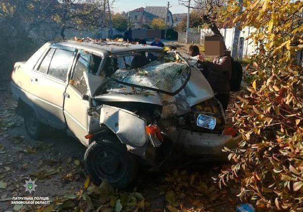 Стало плохо за рулем: в Коммунарском районе водитель врезался в дерево (ФОТО)