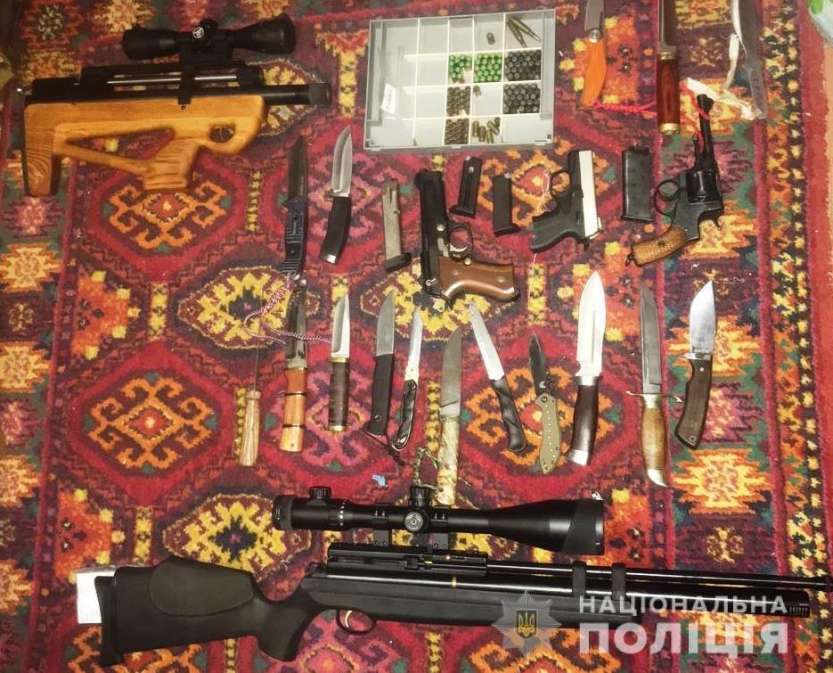 У жителя Энергодара полицейские обнаружили арсенал оружия, – ФОТО