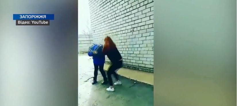 У Запоріжжі, в одному з училищ, одна дівчина відгамселила іншу