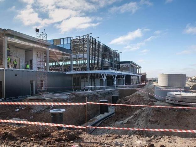 В Запорожье продолжается строительство нового пассажирского терминала аэропорта