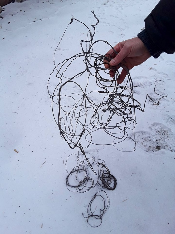 Вот такие петли находят на Хортице