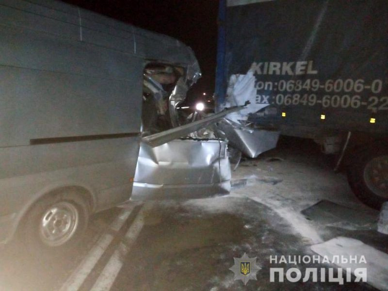ночная авария возле Степногорска