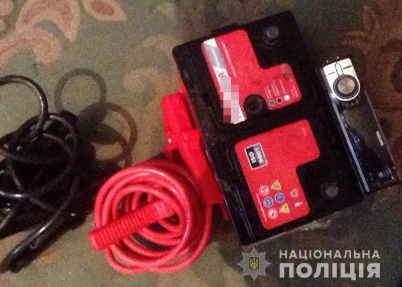 В Запорожской области иномарку обчистили прямо на стоянке