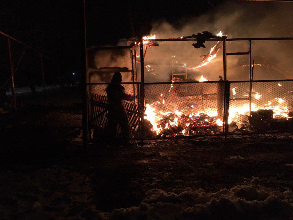В Пологах сгорел гараж с автомобилями