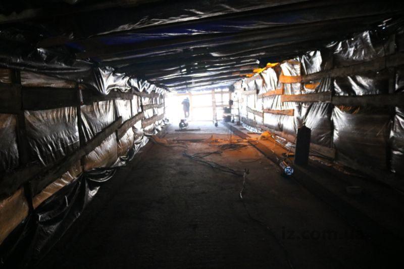 теплица на путепроводе по Калибровой