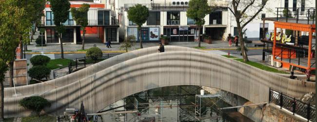 В Шанхае построили самый длинный мост с помощью 3D-принтера