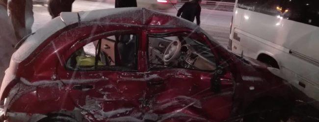ДТП в Шевченковском районе: легковой автомобиль столкнулся с маршруткой