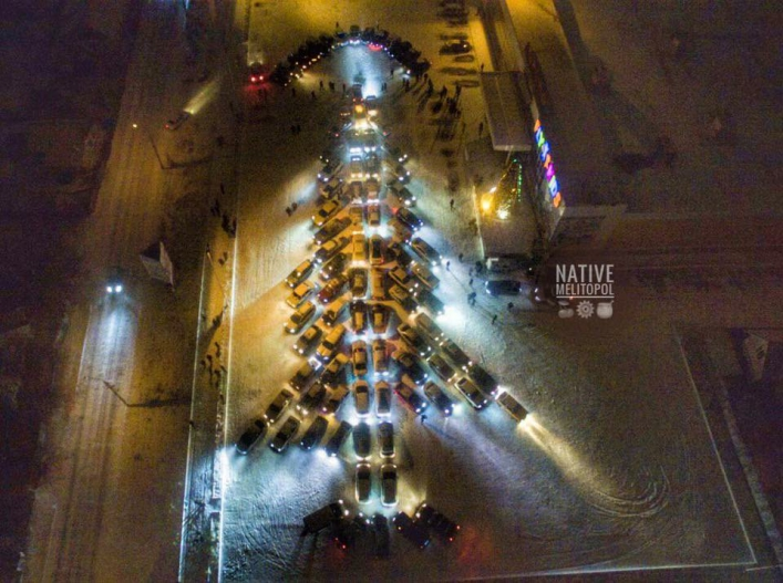 новогодний флешмоб в Мелитополе