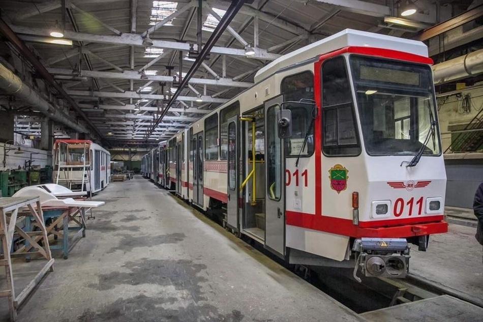 Ремонт старых трамваев