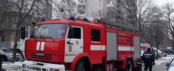 В Запорожской области потушили сильный пожар