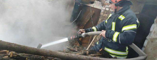 В Запорожской области из-за неправильной эксплуатации печного отопления загорелся дом
