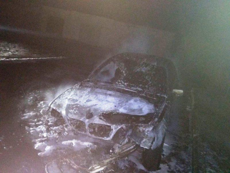 горел BMW