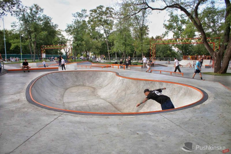 самый большой бетонный скейт парк Украины