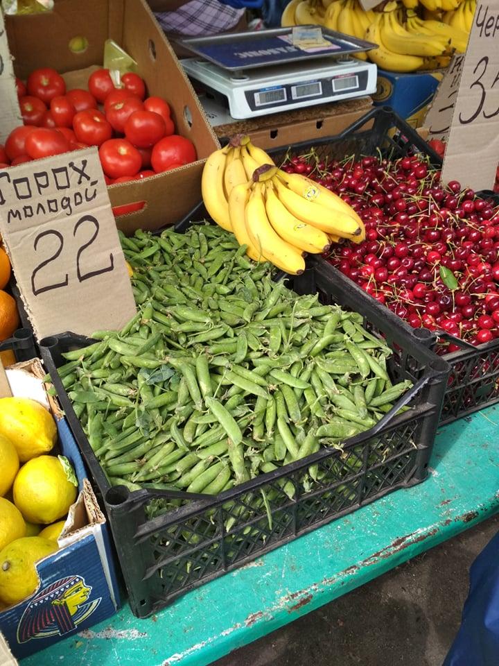 Цены на продукты на Крытом рынке