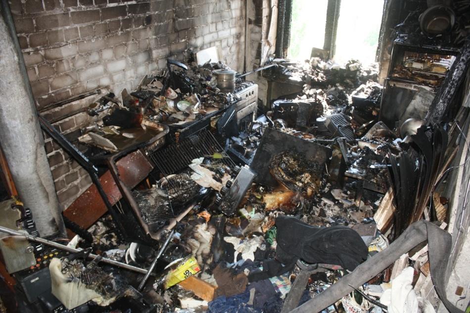 Квартира сгорела дотла
