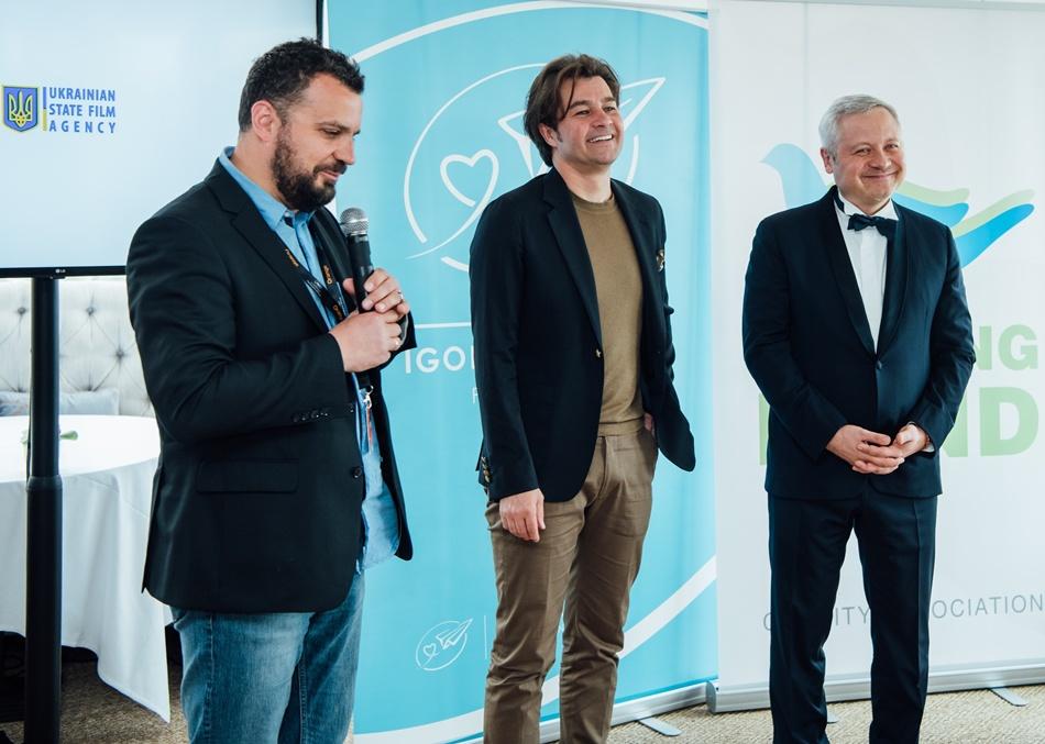 Глава Госкино Филипп Ильенко, Министр культуры Евгений Нищук и Меценат Игорь Янковский