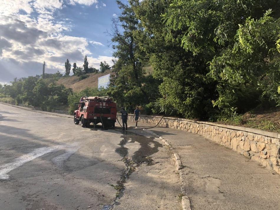 Пожарные в считанные минуты потушили огонь. Фото: