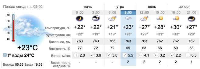 Погода в Бердянске на 20 августа. sinoptik.ua