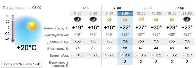 Погода в Запорожье на 20 августа. sinoptik.ua