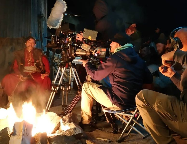На Хортице ночью снимали кино
