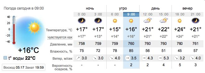 Погода в Бердянске на 6 августа. sinoptik.ua