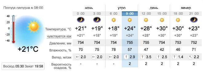Погода в Запорожье на 13 августа. sinoptik.ua
