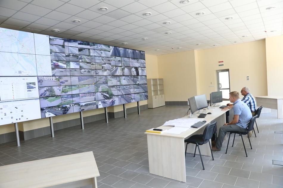 Ситуационный центр с центральным пультом. Фото: мэрия